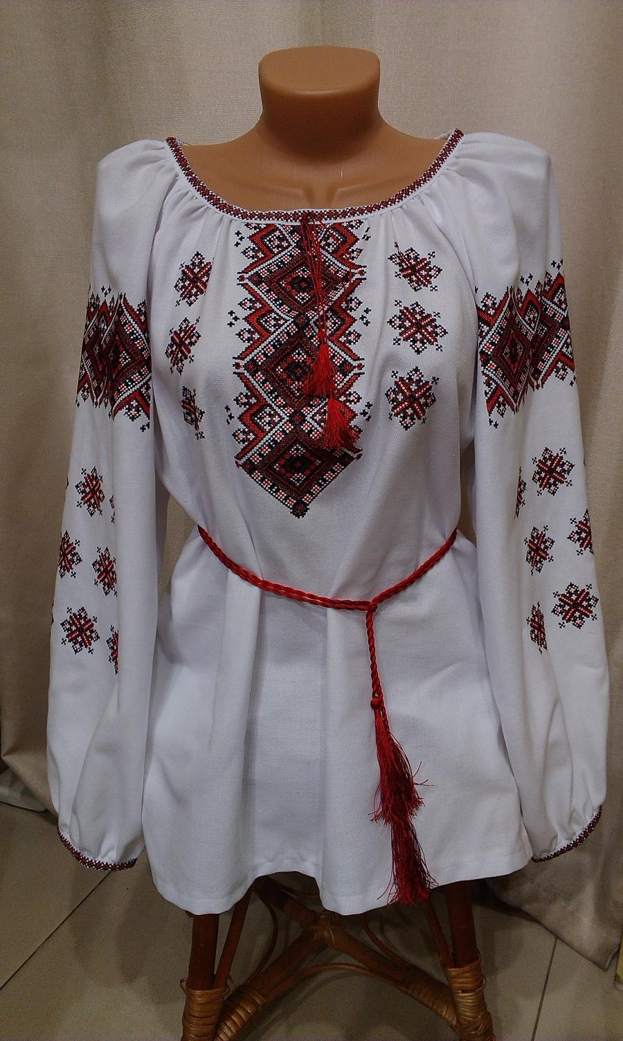 блузка хрестик домоткане полотно червоно-чорна. ціна  1000 грн ... 53ba548a1c368