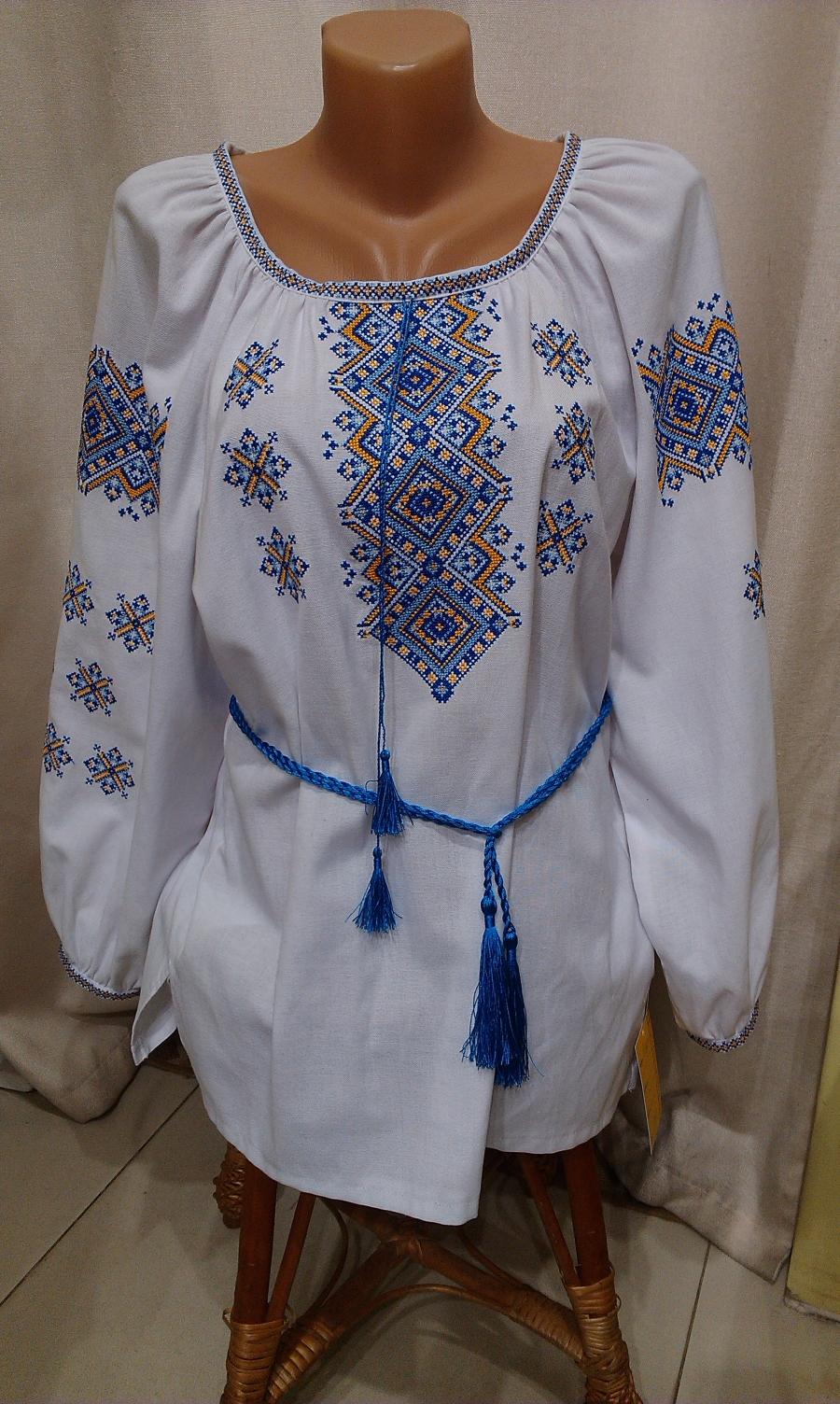 блузка хрестик домоткане полотно жовто-голуба. ціна  1000 грн ... bb100eab979d6