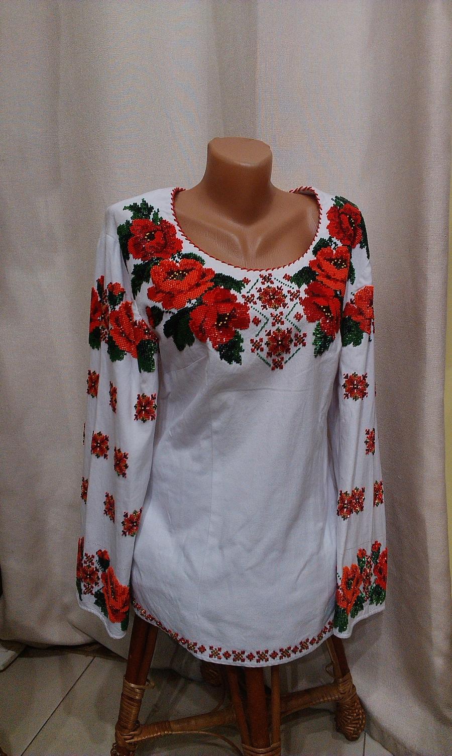 блузка бісер домоткане полотно маки. цена  9000 грн. Ручна вишивка ... 8f0b6ebf895e5