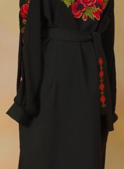 плаття чорне маки. ціна  3000 грн. Машинна вишивка. Жіночий одяг ... f34a6e9987bfd